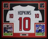 DeAndre Hopkins Autographed & Framed White Houston Texans Jersey JSA COA D5-L