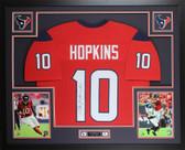 DeAndre Hopkins Autographed & Framed Red Houston Texans Jersey JSA COA D2-L
