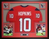 DeAndre Hopkins Autographed & Framed Red Houston Texans Jersey JSA COA D6-L