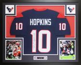 DeAndre Hopkins Autographed & Framed Blue Houston Texans Jersey JSA COA D3-L