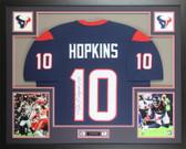 DeAndre Hopkins Autographed & Framed Blue Houston Texans Jersey JSA COA D7-L