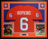DeAndre Hopkins Autographed & Framed Orange Clemson Tigers Jersey JSA COA D4