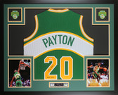 Gary Payton Autographed & Framed Green SuperSonics Jersey Auto PSA COA D2-L
