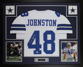 Daryl Johnston Autographed & Framed White Cowboys Jersey JSA COA D1-L