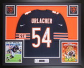 Brian Urlacher Autographed & Framed Blue Bears Jersey Auto PSA COA D6-L