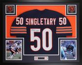 Mike Singletary Autographed & Framed Blue Bears Jersey Beckett COA D4-L