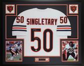Mike Singletary Autographed & Framed White Bears Jersey Auto PSA COA D5-L