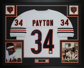 Walter Payton Autographed & Framed White Bears Jersey Auto PSA COA D5-L