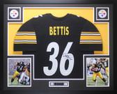 Jerome Bettis Autographed & Framed Black Steelers Jersey Auto JSA COA D2-L