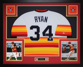 Nolan Ryan Autographed and Framed Rainbow Astros Jersey Auto JSA Certfied