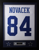 Jay Novacek Framed and Autographed White Cowboys Jersey Auto GTSM Certified