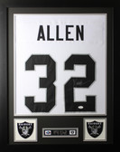 "Marcus Allen Framed and Autographed White Raiders Jersey JSA Certified (24""x30"")"