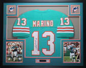 Dan Marino Autographed and Framed Teal Dolphins Jersey Auto JSA Certified