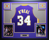 Shaquille O'Neal Autographed and Framed Purple Lakers Jersey Auto JSA Certified