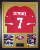 Colin Kaepernick Autographed and Framed Red 49ers Jersey PSA Certified (Vert)