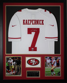 Colin Kaepernick Autographed and Framed White 49ers Jersey PSA Certified (Vert)