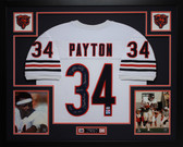 Walter Payton Autographed and Framed White Bears Jersey Auto PSA Certified