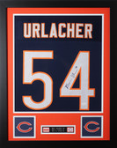 Brian Urlacher Autographed and Framed Blue Bears Jersey Auto JSA Certified