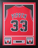 """Scottie Pippen Autographed and Framed Red Bulls Jersey Auto PSA Certified (24""""x30"""")"""