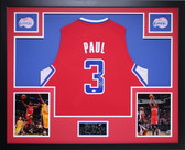Chris Paul Autographed and Framed Red Clippers Jersey Auto Steiner Certified