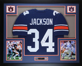 Bo Jackson Autographed and Framed Blue Auburn Jersey Auto PSA Certified