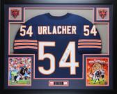 Brian Urlacher Autographed & Framed Blue Bears Jersey Auto JSA Certified