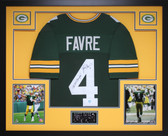 Brett Favre Framed and Autographed SB Champ Green Packers Jersey Favre Certified