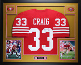 Roger Craig Autographed and Framed Red 49ers Jersey Auto JSA Certified