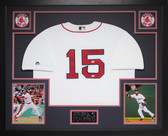 Dustin Pedroia Autographed and Framed White Red Sox Jersey Auto MLB COA