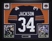 Bo Jackson Autographed and Framed Blue Auburn Jersey PSA Certified