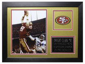 Dwight Clark Framed 8x10 San Francisco 49ers Photo (DC-P1B)