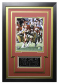 Dwight Clark Framed 8x10 San Francisco 49ers Photo with Nameplate (DC-P2C)