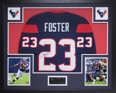Arian Foster Autographed and Framed Blue Texans Jersey JSA COA