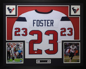 Arian Foster Autographed and Framed White Texans Jersey JSA COA