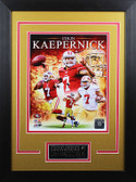 Colin Kaepernick Framed 8x10 San Francisco 49ers Photo with Nameplate (CK-P1D)
