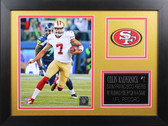 Colin Kaepernick Framed 8x10 San Francisco 49ers Photo (CK-P2B)