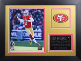 Colin Kaepernick Framed 8x10 San Francisco 49ers Photo (CK-P4B)