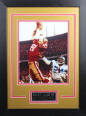 Dwight Clark Framed 8x10 San Francisco 49ers Photo with Nameplate (DC-P1D)