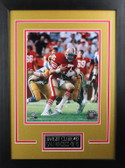 Dwight Clark Framed 8x10 San Francisco 49ers Photo with Nameplate (DC-P2D)