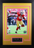 Frank Gore Framed 8x10 San Francisco 49ers Photo with Nameplate (FG-P2D)