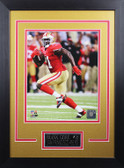 Frank Gore Framed 8x10 San Francisco 49ers Photo with Nameplate (FG-P4D)