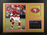 Deion Sanders Framed 8x10 San Francisco 49ers Photo (DS-P1B)