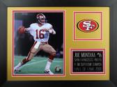 Joe Montana Framed 8x10 San Francisco 49ers Photo (JM-P2B)