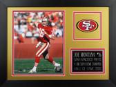 Joe Montana Framed 8x10 San Francisco 49ers Photo (JM-P5B)