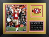 Joe Montana Framed 8x10 San Francisco 49ers Photo (JM-P6B)