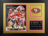 Joe Montana Framed 8x10 San Francisco 49ers Photo (JM-P7B)