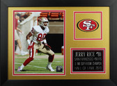 Jerry Rice Framed 8x10 San Francisco 49ers Photo (JR-P1B)