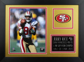 Jerry Rice Framed 8x10 San Francisco 49ers Photo (JR-P2B)