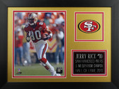 Jerry Rice Framed 8x10 San Francisco 49ers Photo (JR-P3B)