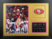 Jerry Rice Framed 8x10 San Francisco 49ers Photo (JR-P5B)